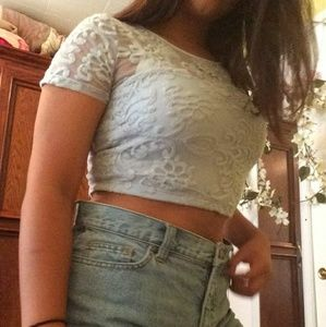 Forever 21 light blue crop top!